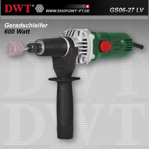 DWT Geradschleifer 600 Watt mit Drehzahlregler und Zubehör - GS06-27 LV