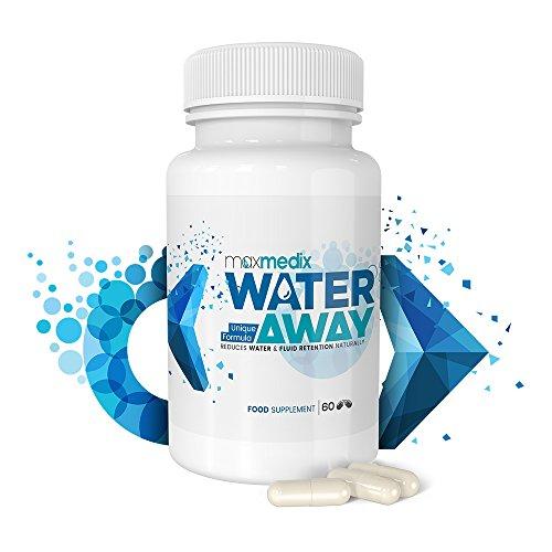 Puissant Diurétique 100% Naturel - Water Away - Elimine la Rétention d'Eau - Aide à maigrir rapidement - 60 capsules