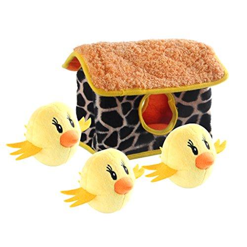 IFOYO Hundespielzeug mit Quietschelement, groß, langlebig, versteckt, interaktives Puzzle, für mittelgroße und kleine Hunde, Haustiere, Halloween, Weihnachtsspielzeug, Huhn