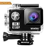 WiMiUS I3 Action Cam Native 4K 14MP Ultra HD Actioncam Wifi Action Kamera 40M Unterwasserkamera mit 2 Akkus und Transporttasche