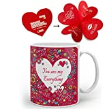indibni You Are My Everything Best Quality Coffee Mug - Pink Valentine love Printed Gift for Boyfriend Girlfriend on Anniversary