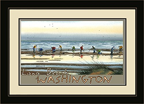 Northwest Art Mall ba-3533mfgdm Long Beach Washington, Graben gerahmtes Wandbild Art von Künstler Dave bartholet, 33x 40,6cm Satin schwarz