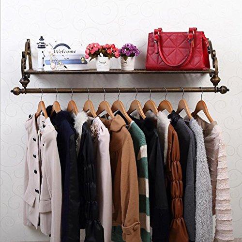 Kleiderablage Everyday Home Eisen-Wand-Mantel-Hut-Gestell-Feste Holz-Regale an der Wand befestigte...