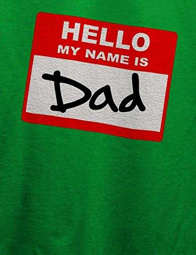 Hello My Name Is Dad T-Shirt Grün