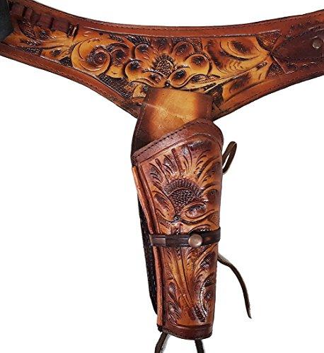 Modestone 44/45 Western Leather Pistolengürtel Rig Revolver 42 Tan -