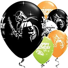 Disney Star Wars - Lote de 25 globos para cumpleaños con imagen de Darth Vader de Star Wars (calidad Qualatex, tamaño 28 cm)