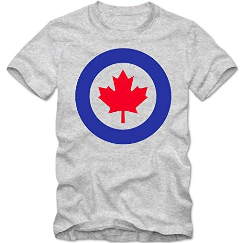 Royal Canadian Air Force 01 T-Shirt | Kanada | RCAF | Army |Herrenshirt, Farbe:Graumeliert (Grey Melange L190);Größe:L