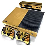 TOOGOO Gold Glossy Skin Sticker For Xbox ONE Console Controller + Kinect Decal Vinyl