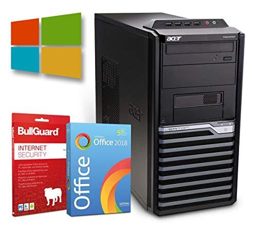 Office PC Computer Tower | Intel Core i3-2120@ 3,3GHz | 8GB | 500GB HDD | DVD-Brenner | Windows 10 Pro | BullGuard | SoftMaker Office (Zertifiziert und Generalüberholt)