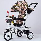 Wu Kinder 'S Dreirad Baby Fahrrad Kinderwagen Rotierende Sitz 1-3-5 Kinder Fahrrad,F