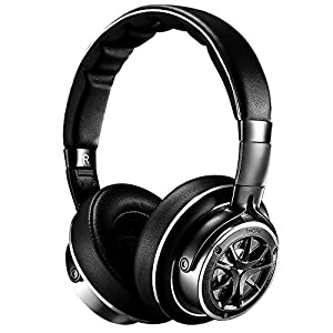 1MORE Triple Driver Over-Ear Headphones Comfortable Foldable Earphones with Hi-Res Hi-Fi Sound, Bass Driven, Tangle-Free Detachable Cable for Smartphones/Android/PC/Tablet - H1707 Space Gray