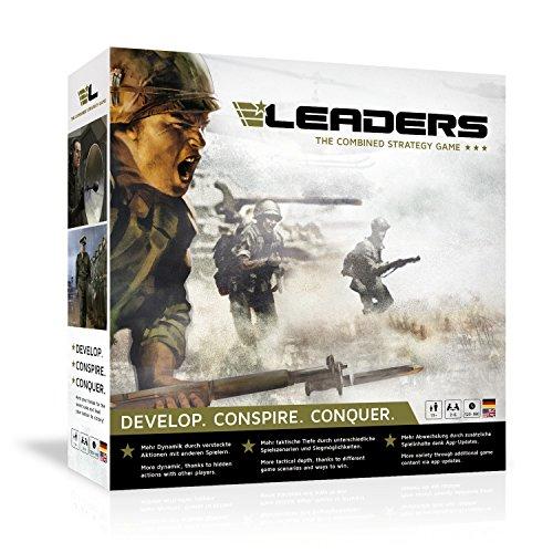 LEADERS – the Combined Strategy Game von rudy games – spannendes Brettspiel mit App Unterstützung ab 13+ I Strategiespiel Gesellschaftsspiel Kriegsspiel Gemeinschaftsspiel Board Game Tabletop Spiel