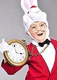Der weiße Kaninchen Kunststoff Jumbo Uhr Wecker