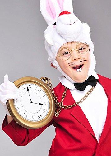 Kunststoff Jumbo Uhr Wecker (Das Weisse Kaninchen-kostüm Alice Im Wunderland)