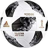 adidas World Cup Ball Fußball, White/Black/Silvmt, 4