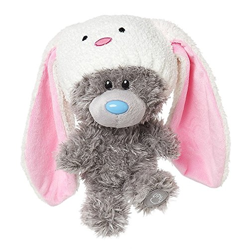 Me to You My Dinky Bear wearing rabbit hat, sits 23cm