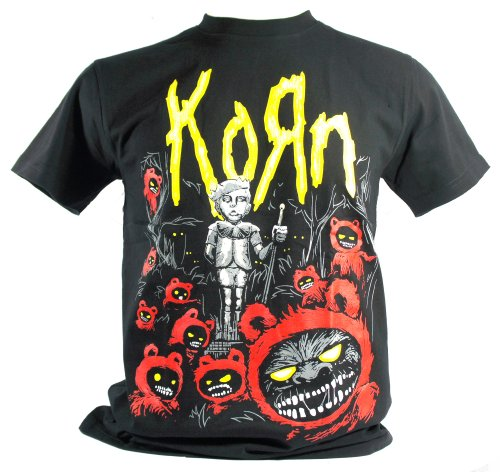 Korn - Maglietta da uomo nero Children Of The grano Medium Size M