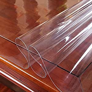 Plastic Nappe, Housse de table, Nappe de PVC (Clear, 1.5mm, 60 * 120cm)