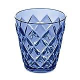 koziol Becher Crystal S, Kunststoff, transparent hellblau, 8.4 x 8.4 x 9 cm