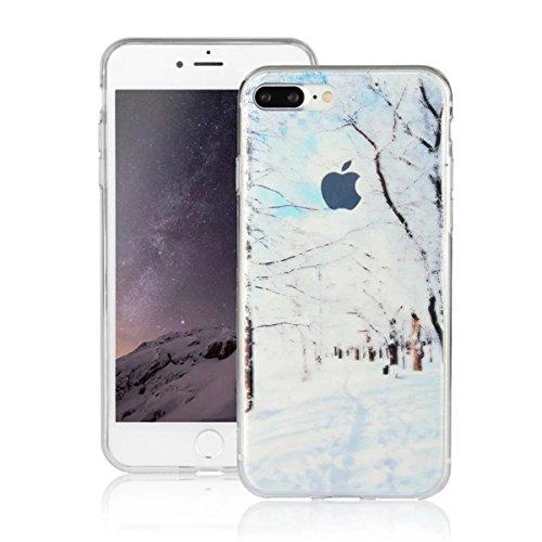 MOONCASE iPhone 7 Plus Coque, Ultra Mince Motif Etui TPU Silicone Antichoc Housse Case pour iPhone 7 Plus (Paysage 07) Paysage 01