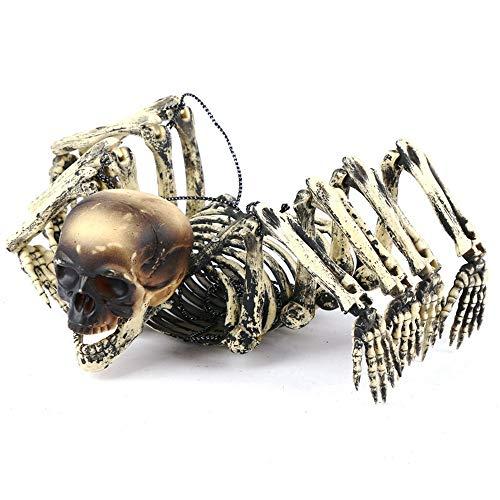 INSN Halloween-Dekoration, Kreatives Skelett des Menschlichen Kopfes des Spinnenkörpers, Das Dekorative Stützen, Gruseliges Wirkliches Gefühl, Für Festivaldekoration, Partei Hängt (Wirklich Kreative Kostüm)