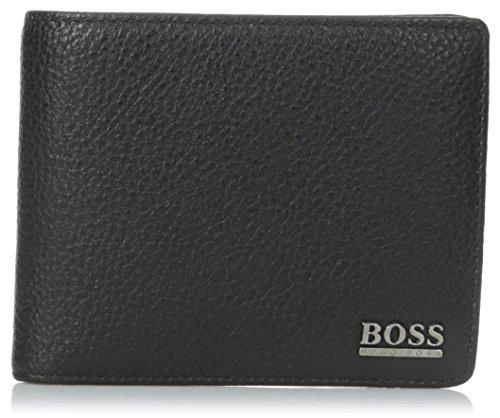 BOSS 50261708-001, Herren Herren-Geldbörse schwarz, schwarz One Size - Boss Hugo Leder Braun