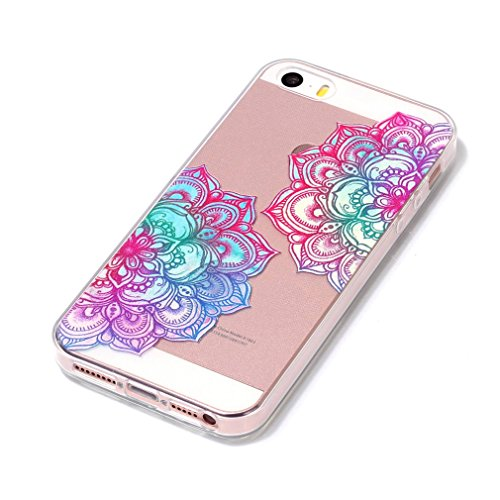 SZHTSWU® Hülle für iPhone 7, Ultra Slim Thin Weiche TPU Ultradünn Schön Soft Silikon Schutzhülle Case Transparent Clear Flexible Rückschale Back Cover Etui Handy Hülle Bumper Abdeckung für Apple iPhon Blumen