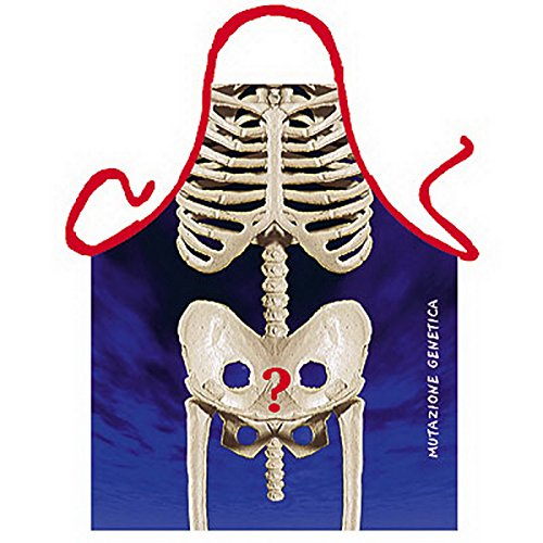 Röntgenbild - Skelett Pimmel BONER Schürze von ITATI + Urkunde (Skelett Shirt Erwachsenen)