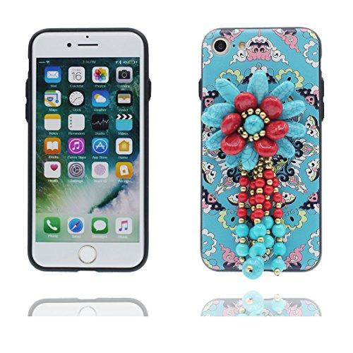Coque iPhone 7 Plus, [TPU Flexible Durable caractéristiques nationales] iPhone 7 Plus étui Cover (5.5 pouces), iPhone 7 Plus Case, anti- chocs- 3D Bead Unique Designed Totem Style Durable # 1