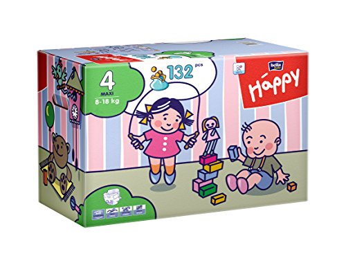 Bella Baby Happy Windeln Gr. 4 Maxi 8-18 kg Big Pack, 2er Pack (2 x 70 Windeln), 1er Pack (1 x 140 Stück)