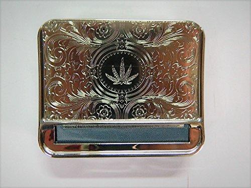 Rouleuse Blague Tabac cigarette chromé cigarettes métal Tubeuse boite papier