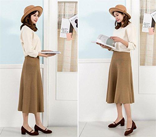 ALUK- Printemps Et Été - Bouche Peu Proche Avec Une Chaussures Simple ( couleur : Café couleur , taille : 34 ) Café couleur