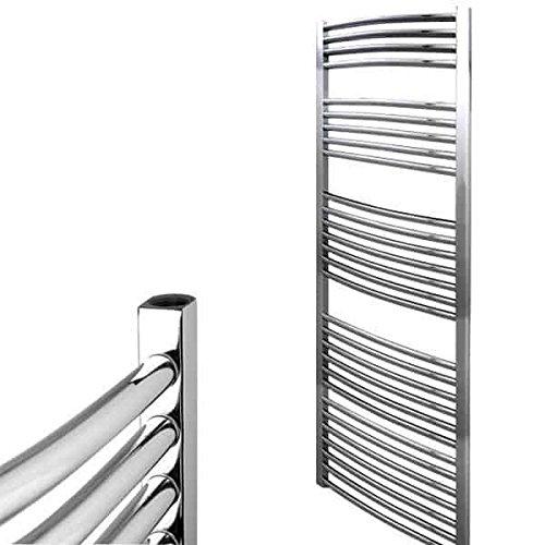 Richmond Heizkörper Zentralheizung Electra gebogen Beheizte Leiter Handtuchhalter, high Output rund Bars, 10Jahre Garantie, Classic chrom/weiß, chrome, 1800 x 600 -