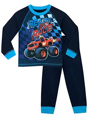 Blaze e le mega macchine - pigiama a maniche lunga per ragazzi - blaze & the monster machines - 2 - 3 anni