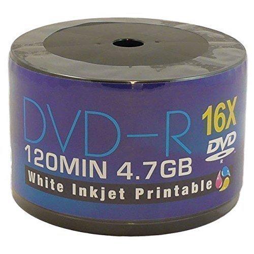 Aone Blank DVD DVD-R 16x Full-Face Inkjet Printable Discs - 4.7GB 120min - 50 Pack Test