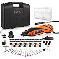 Rotary Tool Tacklife RTD35ACL 135W Multi-Functional Tool with 80 Accessories Kit and 4 Attachments, Varible Speed 10000-32000rpm, Combitool for Craft Projects, DIY Creations, Cutting, Engraving