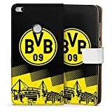 DeinDesign Huawei P8 Lite 2017 Tasche Leder Flip Case Hülle BVB Logo Borussia Dortmund