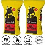 Holzkohle Gaucho Quebracho | Premium Grillkohle in Steakhouse Qualität | Heiße Glut und lange Brenndauer | 2x7,5Kg