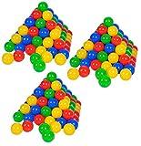 Knorrtoys 56790 - Bälleset - 300 bunte Plastikbälle/ Bälle für Bällebad im Karton, 6 cm Durchmesser, in Farbmischung blau / rot / gelb / grün, ohne gefährliche Weichmacher, TÜV-Rheinland Testbericht v. April 2016