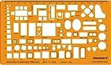 FineArt 1: 100 Skala architektonische Zeichnung Template Stencil, technische Ausarbeitung Supplies, Möbel Symbole für House Interior Grundriss Design