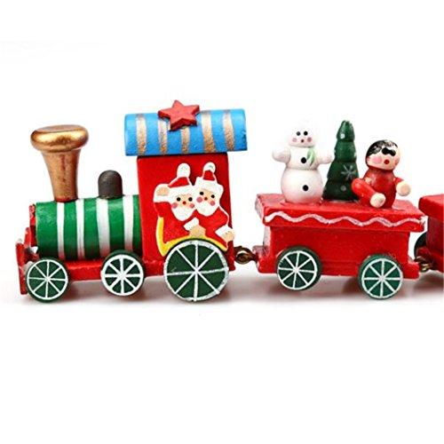 (Holz Weihnachten Zug baonoopy Dekoration Decor Geschenk 6Stück/Set)