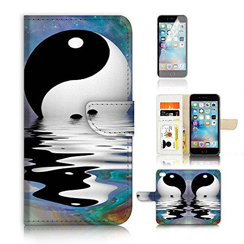iPhone 7Flip Wallet Coque et protection d'écran Bundle. A20277Tai KI Yin Yan