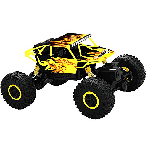 Top Race tr-130 2,4 GHz Batterien Fernbedienung Rock Crawler / Monster Truck 4WD / Geländewagen Spielzeug, GELB (Fernbedienung Für Lkw-spielzeug)