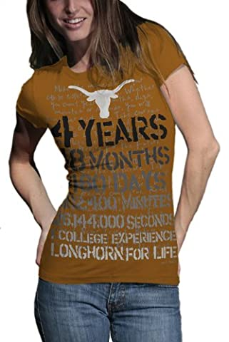 NCAA Texas Longhorns T. Fisher 4 Jahre 48 Monate Vintage Junior Short Sleeve Tee Shirt, Kinder, Texas Longhorns