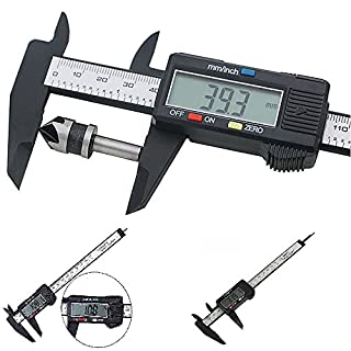 150mm/6inch LCD Digital Professional Electronic Ruler Carbon Fiber Vernier Caliper Gauge Micrometer Measuring Tool Device For Inside Outside Depth And Step Measurements