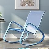 QFFL Schaukelstuhl Home Adult Schaukelstuhl Balkon Sessel Verstellbares Kissen Abnehmbar Outdoor Hocker (Farbe : B, Größe : 61 * 90 * 87CM)