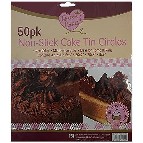 Cercles à gâteau en étain anti-adhésif 100/Lot de 2paquets de 50