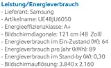 Samsung UE48JU6050 121 cm (48 Zoll) Fernseher (Ultra HD, Triple Tuner, Smart TV) - 3