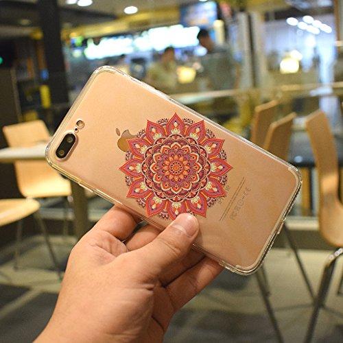 Cover iPhone 6/6S, XiDe Custodia iPhone 6/6S Ultra Sottile Leggera Soft Silicone Case Trasparente Chiaro Shell Antigraffio Antiscivolo Bumper per iPhone 6/6S - Fenicotteri Mandala