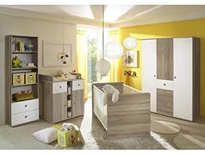 babyzimmer wiki eiche sonoma wei b robedarf. Black Bedroom Furniture Sets. Home Design Ideas